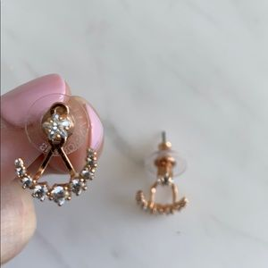 Swarovski Moonsun Pierced Earrings Rose Gold
